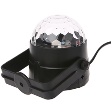 LED Disco Ball Dj Stage Light 3W 220V 7 Colors Sound Activated Strobe