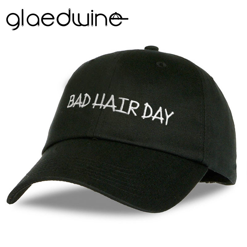 Glaedwine Fashion Baseball Caps BAD HAIR DAY Black Snapback Caps Men Dad Hats for men women hiphop gorras casquette de marque brand winter hat knitted hats men women scarf caps mask gorras bonnet warm winter beanies for men skullies beanies hat