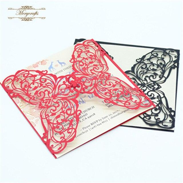 Frohe Weihnachten Bestseller Ideal Produkte Quadrat Schwarz Und Chinesische  Rote Hochzeit Einladungskarten