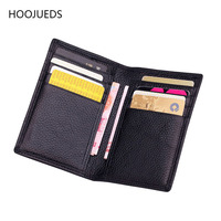 Cow Leather Card Holder Men Business Style Credit Card Travel Wallet Bank Card ID Holder HOOJUEDS