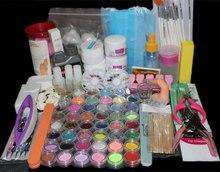 Hot sale Acrylic Powder Nail Art Kit UV Gel Manicure DIY Tips Polish Brush Set BTT-113 free shipping