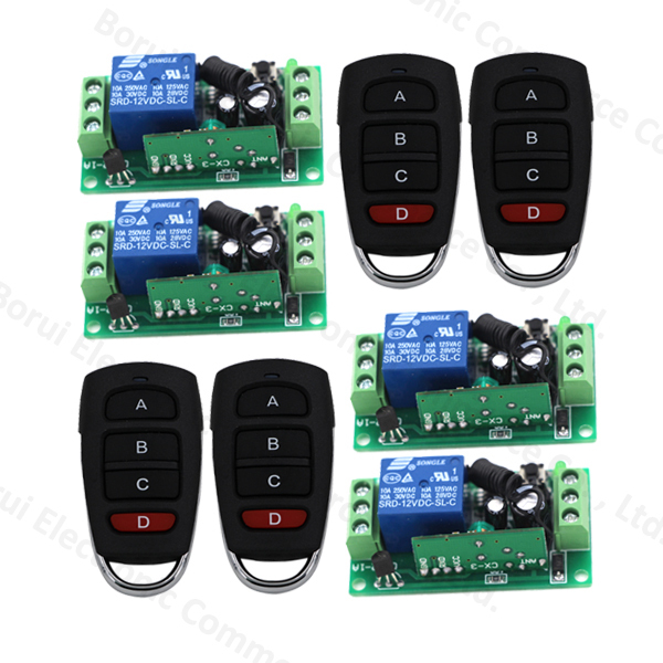 DC 12V 1CH 1Channel Wireless Remote Control Radio Switch Transmitter Receiver 315Mhz/433mhz