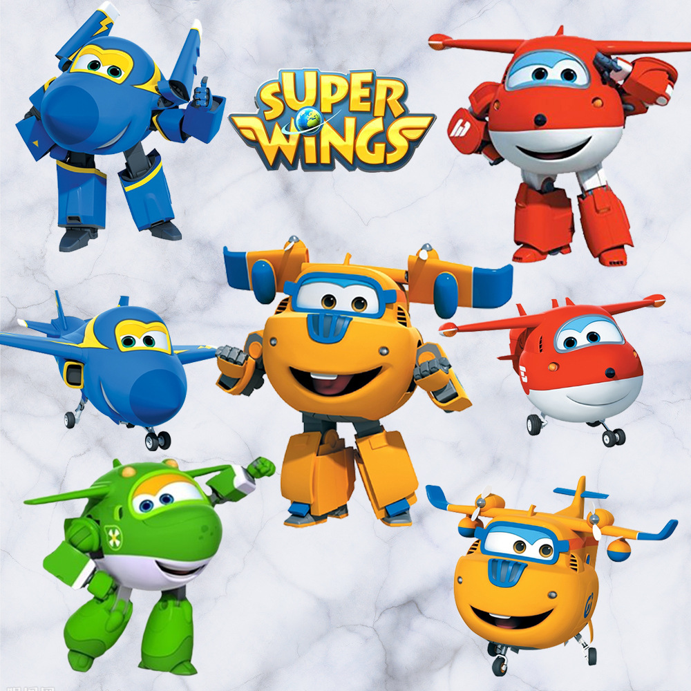 Cartoon Super Wings Deformation Airplane Robot Baby Home Decoration Anime Posters Wall Decal Art Game Wall Paper Kids Nursery image