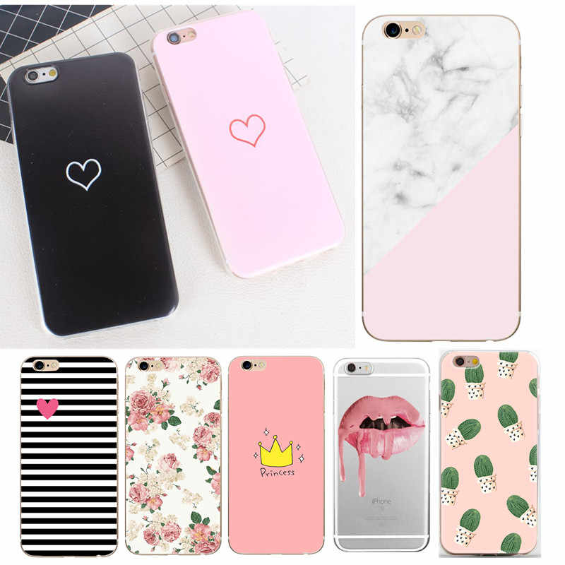 For Funda IPhone 6 Case 7 Plus X Cute