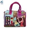 2016 новые конфеты сумки braccialini Стиль Женщины Вышитые Сумки на ремне, сумки мультфильм модные сумки