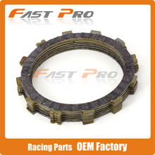 Clutch Disc Friction Plates Set 7pcs for KAWASAKI KL600 KLR600 ZL600 ZX600 ER650 EX650 KL650 KLE650 KLX650 KLX650R ZX750 ZX-7(China)