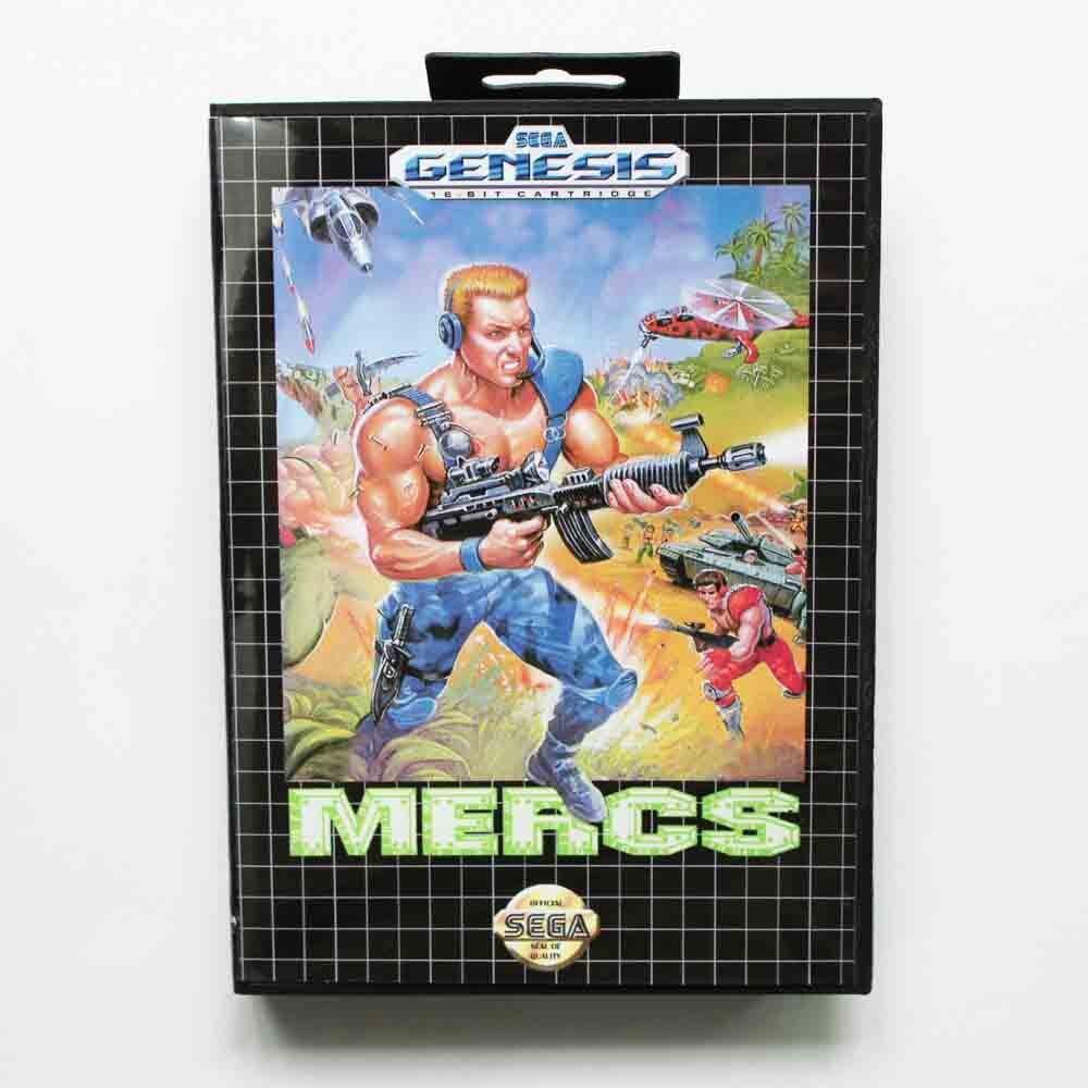 Mercs Game Cartridge 16 bit MD Game Card With Retail Box For Sega Mega Drive For Genesis