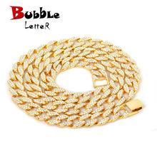 15mm Miami Cuban Necklace Choker Gold Silver Color Full Rhinestone Crystal Bling Bling Hip Hop Chain Fashion Punk Jewelry gift(China)