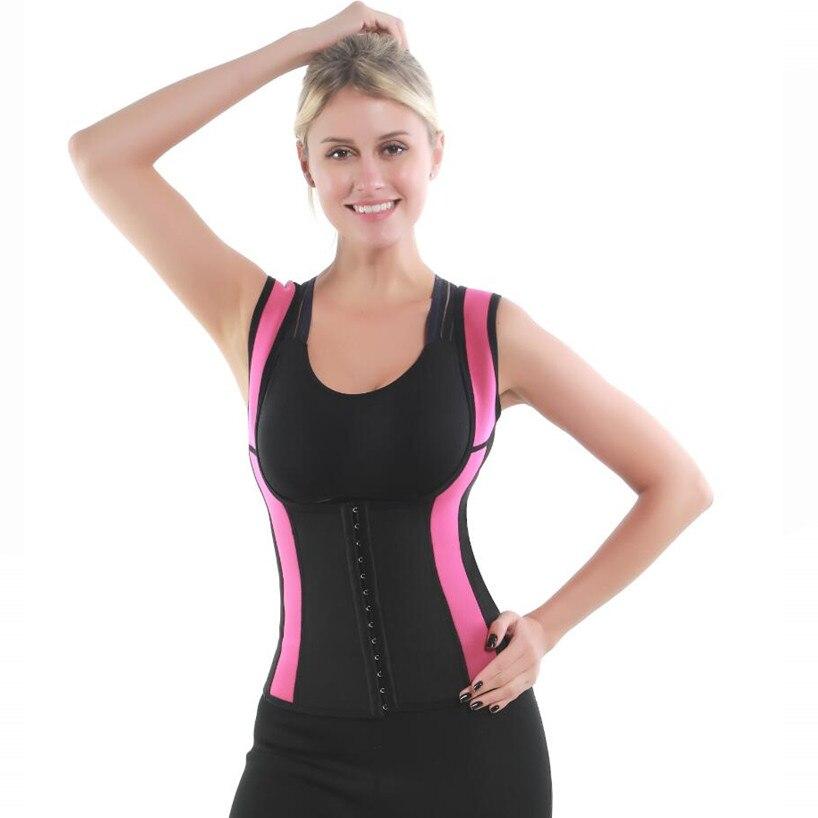 2019 Women 39 s Sweat Shaper Cincher Slimming Shirt Waist Trainer Corset Waist Trimmer Vest for Back Fat Neoprene Body Shaping Vest in Tops from Underwear amp Sleepwears