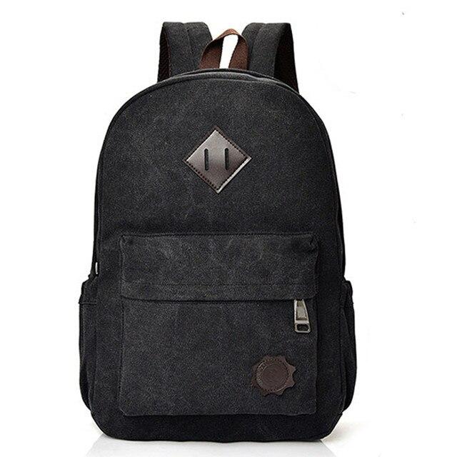 ee21b6468257 xiniu Neutral Canvas Backpack School Lady Men Travel Student School Laptop Bag  backpack men mochila masculina