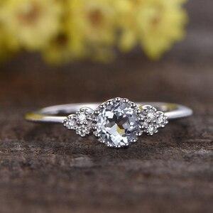 Женское кольцо для помолвки, с овальным цирконием и кристаллами из розового золота