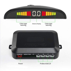 Image 4 - 4PCS Car Parking Sensors System With LED Display Indicator Auto Reversing Radar Monitor Detector Longevity Auto Parking Sensor