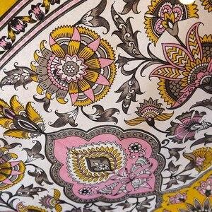 Image 4 - Tapiz de medallón Floral para decoración de hogar, cabecero indio dorado, para colgar en la pared, tapiz de Mandala, decoración colgante de pared de macramé Celestial