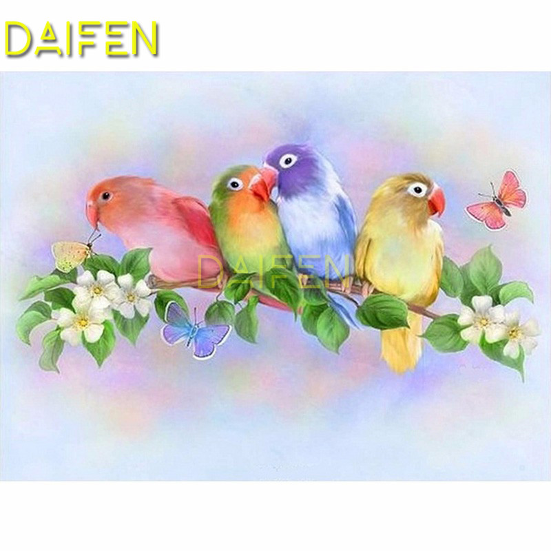 Full Square Diamond embroidery Cross stitch colorful parrot Gardenia butterfly Full Round Diamond painting DIY 3D Diamond mosaic