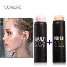2pcs group Face Makeup blusher Bronzer & Highlighter Stick Pen Shimmer Highlighting Powder Creamy Texture Silver Shimmer Light