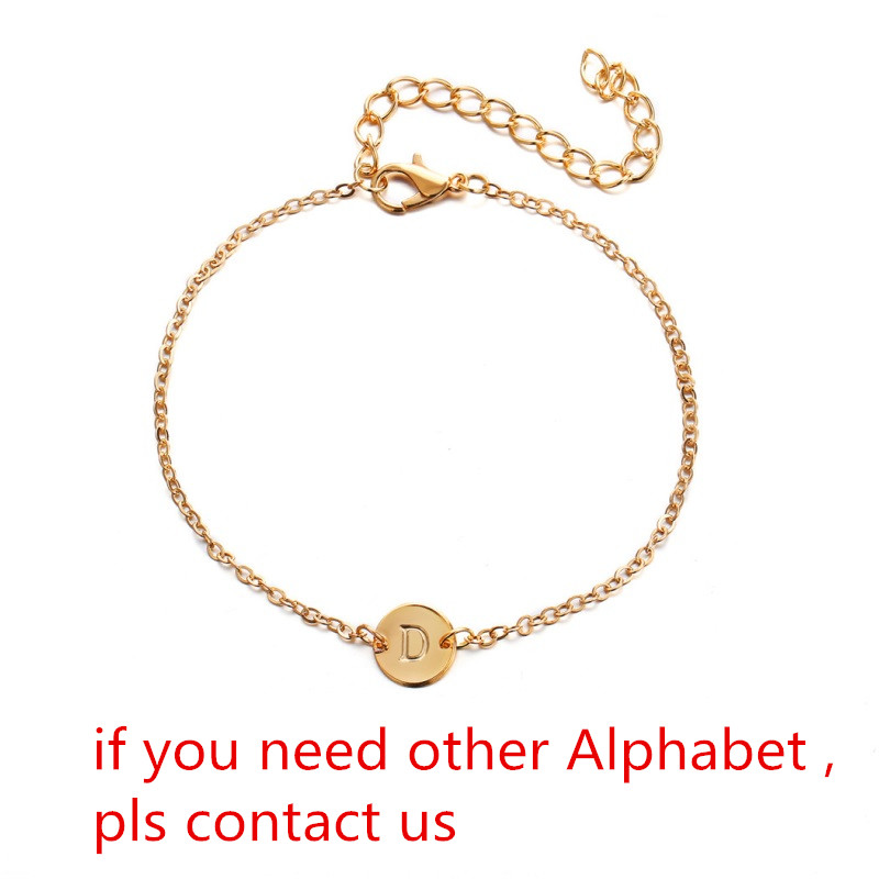 Jewelry Beach Wristbands Simple Bangles Initial Charms  26 Letters Bracelets