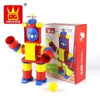 Wange 39Pcs Big Size Blocks Robot Pipes Building Blocks DIY Educational Kids Bricks Robot Tube Game Toys for Children NO.420