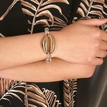 2019 New Bohemia Conch Shell Pendant Bracelet Bangle Summer Charm Natural Stone Cowrie Seashell Rope Chain Boho Gifts