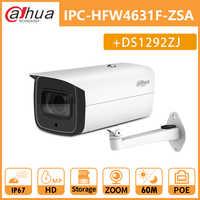 Dahua IP Camera Bullet 6MP IPC-HFW4631F-ZSA POE Camera outdoor IP67 IK10 2.7-13.5mm 5X Zoom 60M MIC SD card slot with bracket