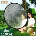 2 в 1, складной отражатель для фотосъемки, 43 дюйма, 110 см