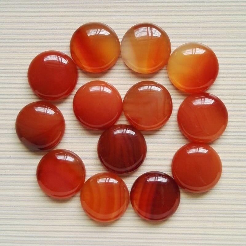 Wholesale Fashion natural red onyx stone beads 20mm carnelian round cab cabochon stone beads 20pcs/lot free shipping