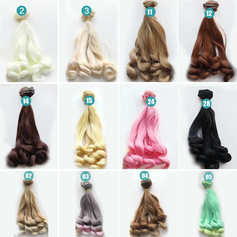 Yeni Moda 20 cm El Yapımı Kıvırcık Peruk Yüksek sıcaklık Tel DIY Bebek Peruk Saç Bebek 1/4 1/6 Bebek aksesuarları Hediyeler