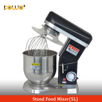 5 liter commercial electric kitchen food stand bread dough mixer machine for bakery