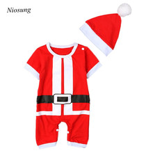 Niosung Baby Kids outfits Hat+Christmas Romper Jumpsuit Outfit Set Kids Clothes Boy Girl Christmas Party Costume