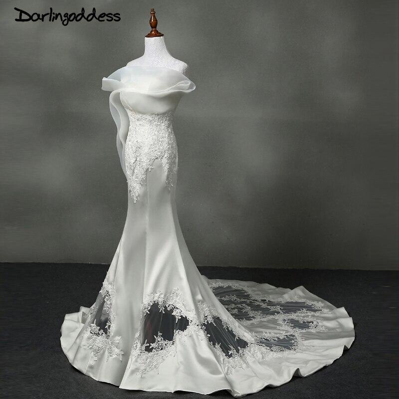 Luxurious Lace Mermaid Wedding Dresses 2017 Satin Backless African Wedding Dresses For Black Women Vestidos De