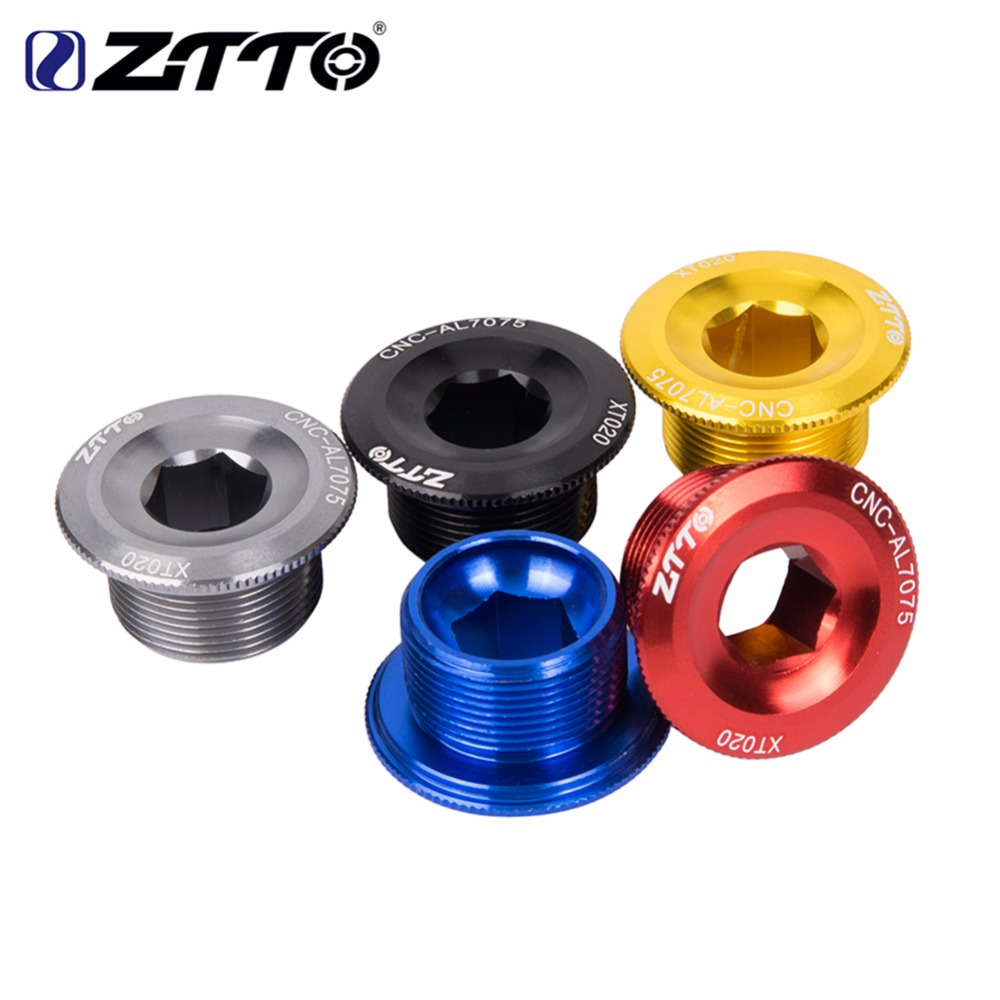 bicycle Crank Arm Bolt M20+Crank Dust Cap+Crankset Protector BB Screw shimano