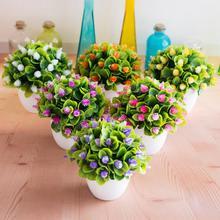 Новинка, 1 шт., очаровательный искусственный цветок, миниатюрный букет невесты, домашний Свадебный декор, скрапбукинг, сделай сам, искусственные цветы