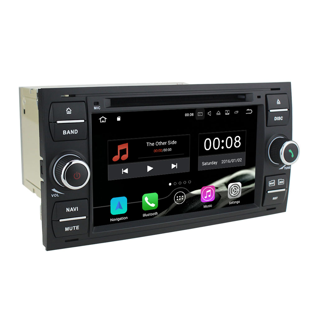2 Din Android 7.1 Quad Core 2GB RAM 16GB ROM Car DVD GPS Radio Player for Ford Focus 2004-2008/Mondeo 2003-2007/Fusion 2006-2011