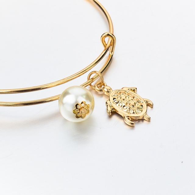 Gold Color Adjustable Turtle Bangle (4 types)