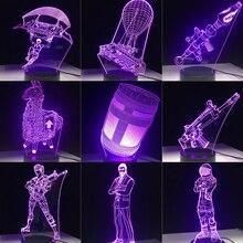 3D светодио дный лампа 7 цветов сенсорный переключатель настольный свет лава лампа Акриловая Иллюзия комната атмосфера освещение подарок для фанатов игры все скины