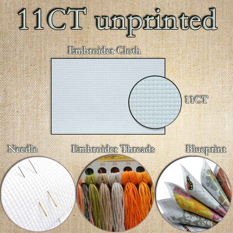Летающая сторона сбоку бабочка цветочная живопись Счетный принт на холсте DMC 14CT 11CT Наборы для вязания вышивка крестиком