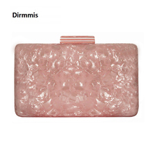 2019 New Brand Fashion Women Evening Bags Pink Cute Handbags Luxury Party Prom Acrylic Woman Wedding Bride Casual Clutch