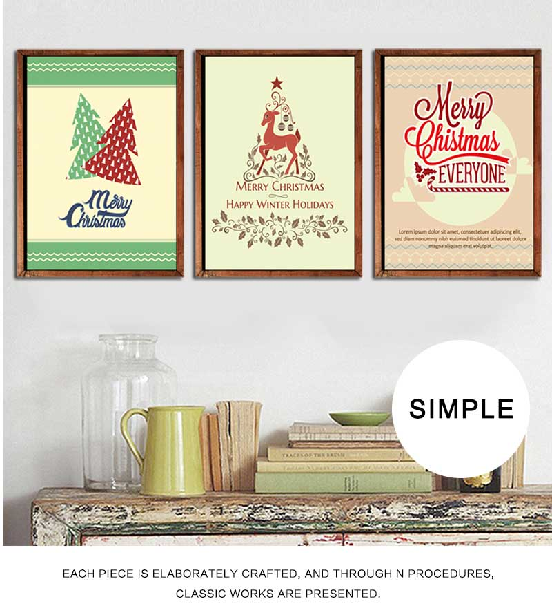 Svity Cute Christmas Tree Wall Art Canvas Painting Nordic Posters And Prints Decorative Picture For Merry Party Decor Calligraphy Aliexpress