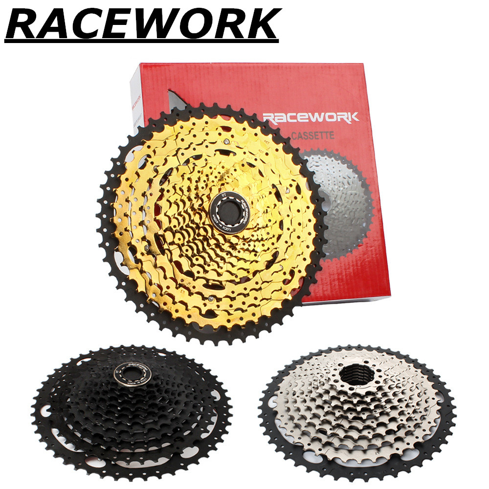 RACEWORK mtb mountain bike <font><b>cassette</b></font> flywheel 10 <font><b>11</b></font> 12 speed <font><b>42</b></font> 46 50 52T climbing large tooth flywheel image