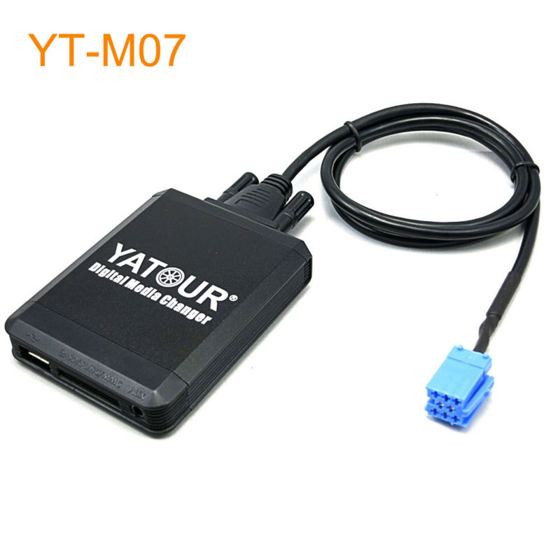 Yatour Car MP3 USB SD CD Changer for iPod AUX with Optional Bluetooth for Smart Roadster ForTwo ForFour for Lancia Lybra yatour car mp3 usb sd cd changer for ipod aux with optional bluetooth for toyota carina celica coaster highlander land cruiser