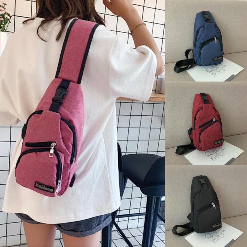 NoEnName Mens Women Hiking Crossbody Chest Bags Holiday Shoulder Bag Messenger Backpack Waist Pack
