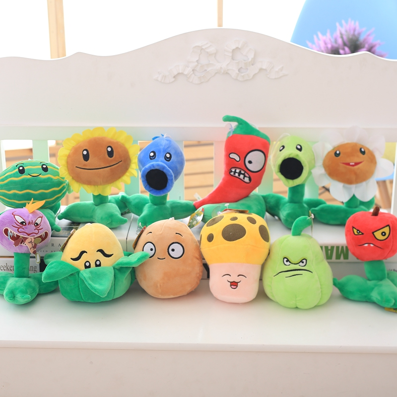 12pcs/lot 20cm Cartoon Plants vs Zombies Plush Plants Toys Stuffed Plants vs Zombies Game Toys Kids Girls Gifts Birthday Toy