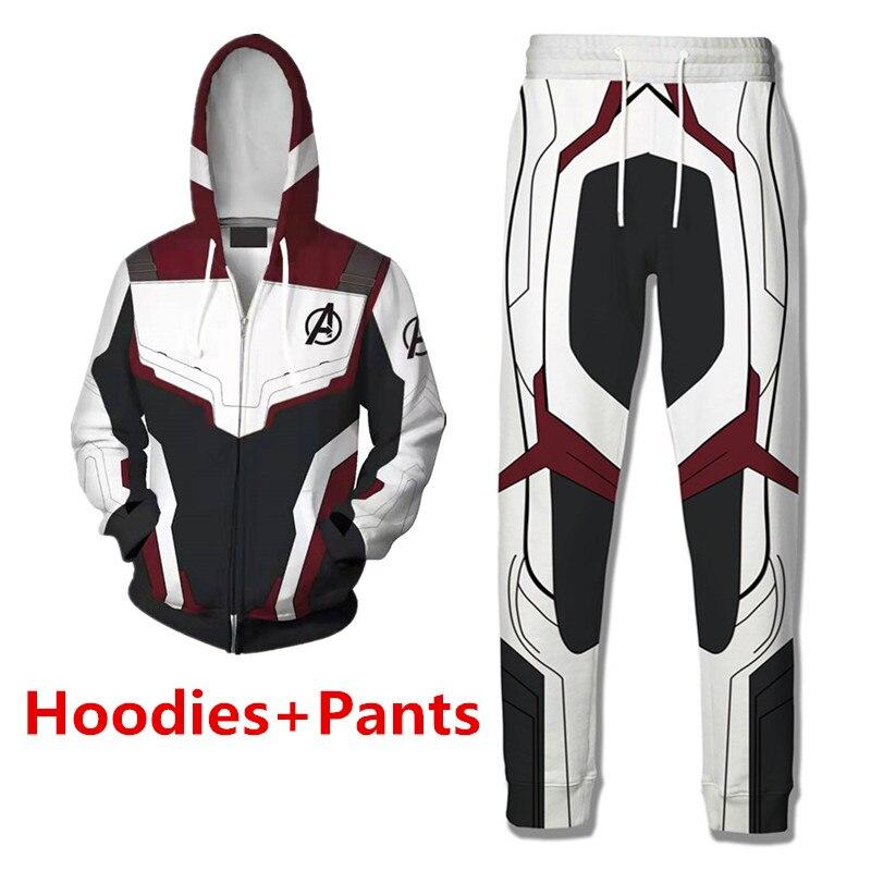 Ody Avengers Endgame 4 Quantum Reich 3d Druck Hoodies Männer Fitness Pullover Sweatshirts Zipper Jacke Cosplay Männer Frauen Streetwea Pullover Sweatshirts