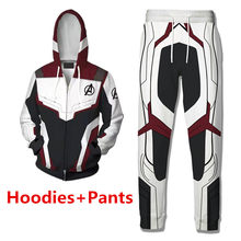 e396938b Avengers Endgame Captain America Cosplay Costume Quantum Realm Hoodies  Sweatshirt Superhero Iron Man Shirt Coat Pants