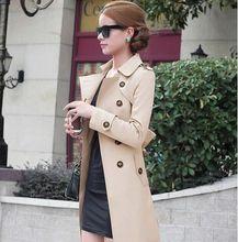New 2019 spring coat women slim overcoat medium-long sashes trench coat women casual trench coat for women H337