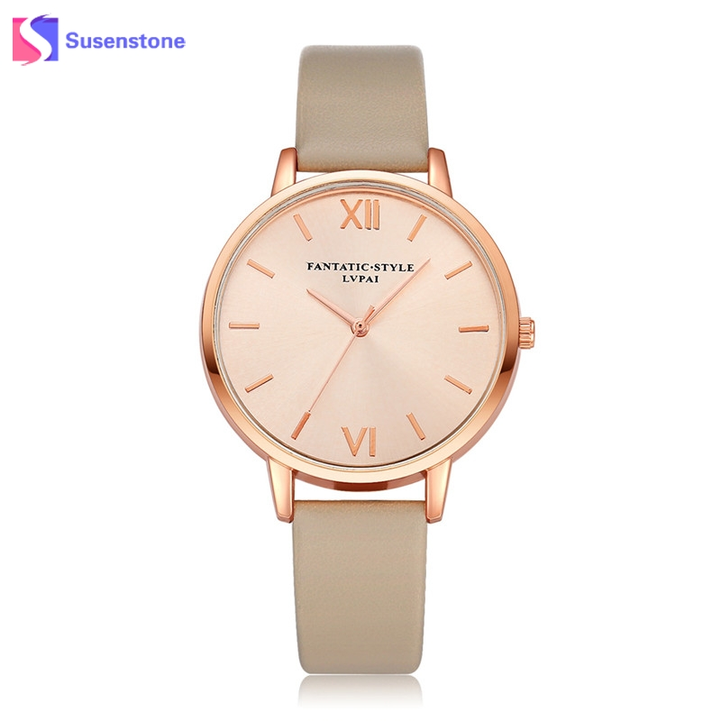 Fashion Women Watches Luxury Analog Quartz Wristwatch Rose Gold Small Leather Female Clock Ladies Dress Watches Relogio Feminino ladies women watches 2017 fashion women rhinestone bracelet watches analog quartz wristwatch ladies clock relogio feminino