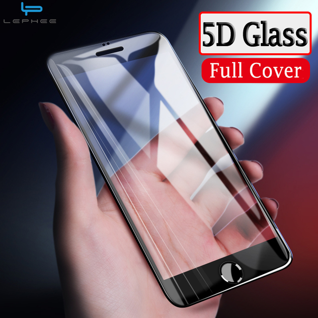new style 4a958 85a4f US $2.68 20% OFF|LEPHEE Full Cover 5D Glass for iphone 7 Plus 4D 3D Curved  Tempered Glass for iPhone 7 iPhone 6 6s 8 Plus X Screen Protector XS X-in  ...