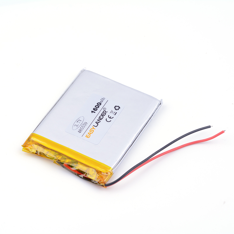 lithium polymer battery 485559 1600mAh For MP3 MP4 GPS Digital Products toys battery pack medical device