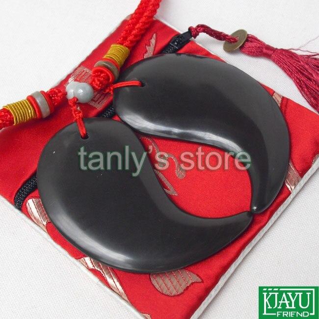 5A grade Original Si Bin Bian stone massage guasha plate tai ji shape 88x45mm 2pieces lot in Massage Relaxation from Beauty Health