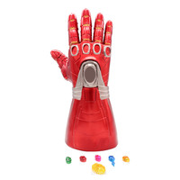 [New] Costume party Marvel Avengers Final battle LED Light Iron Man Gloves model toy Stones can be separated Action Figure model