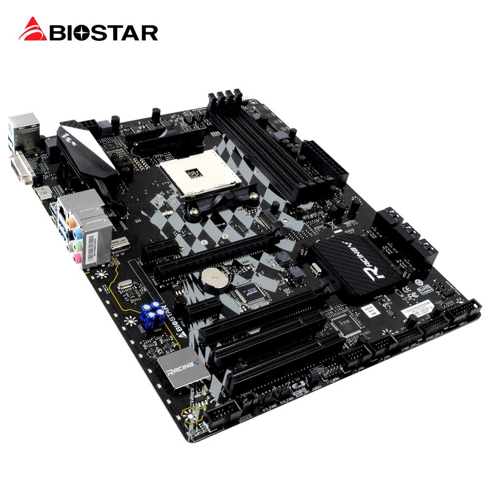 BIOSTAR X370GT5 RGB LED GAMING Motherboard For Ryzen AMD 1700 1600 ATX Racing Computer DDR4 3200 2933 Support HDMI 4K Resolut